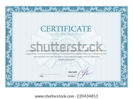 Certificate. Template diplomas, currency. Vector - stock vector