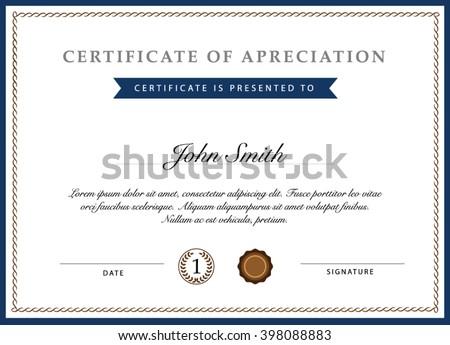 Certificate template vector - stock vector