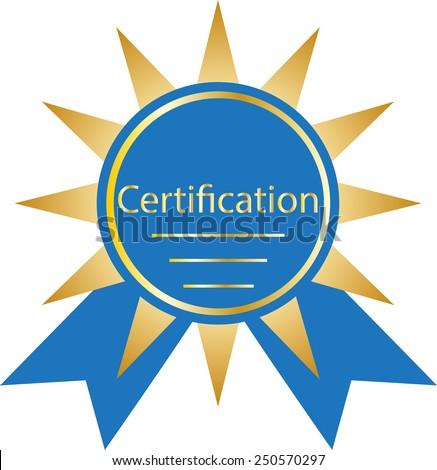 certification winner award - stock vector