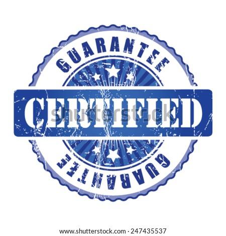 Certified   Guarantee Stamp.  - stock vector