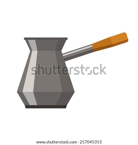 Cezve for Coffee - stock vector