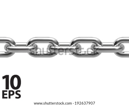 Chain isolated. Seamless. Vector illustration - stock vector