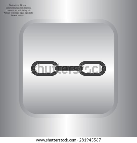 Chain, link icon vector - stock vector