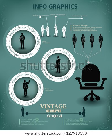 Chair for business people,abstract graphic design,vector - stock vector