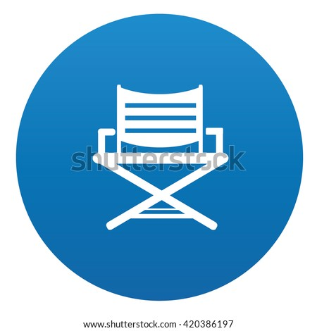 Chair icon design on blue background,vector - stock vector