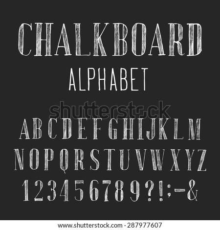 asmr chalkboard writing alphabet