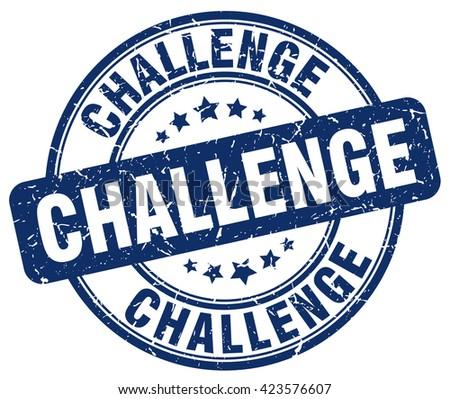 challenge blue grunge round vintage rubber stamp.challenge stamp.challenge round stamp.challenge grunge stamp.challenge.challenge vintage stamp. - stock vector