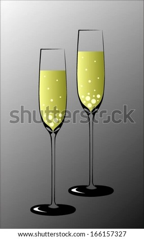 champagne bubbles celebration - stock vector