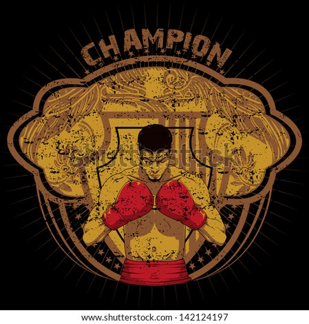 Champion - stock vector