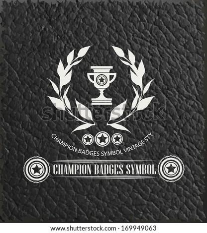 Champion badge symbol,vector - stock vector