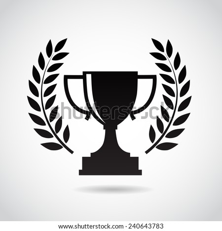 Champion cup icon isolated on white background. Vector illustration. - stock vector