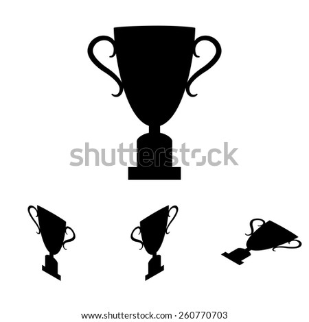 Champions Cup icon. Vector illustration. Flat isometric style - stock vector