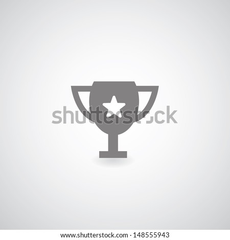 Champions Cup symbol on gray background - stock vector
