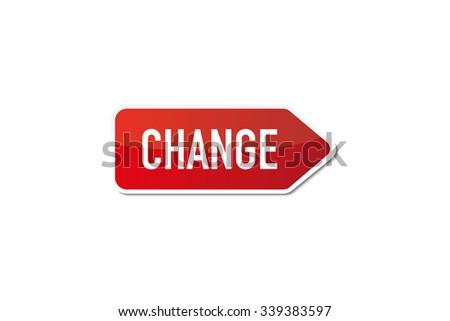 Change - stock vector
