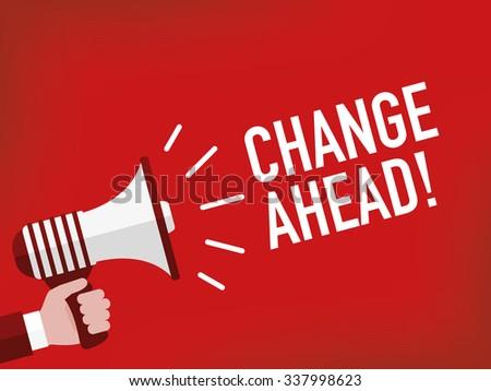 Change ahead! - stock vector