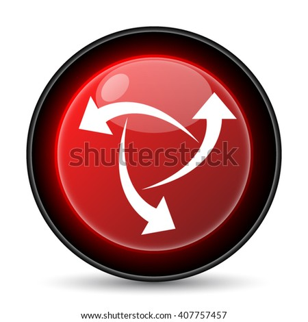 Change icon. Internet button on white background. EPS10 vector