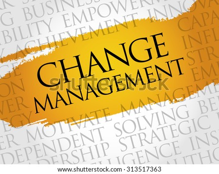 Change management word cloud, business concept - stock vector