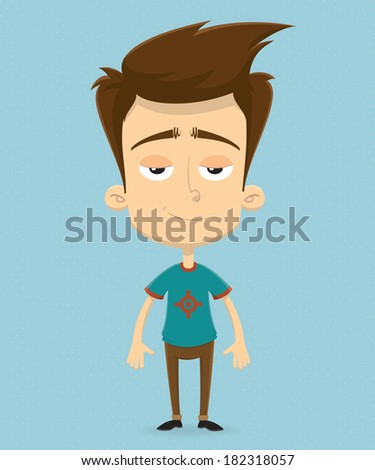 Character design. Vector illustration - stock vector