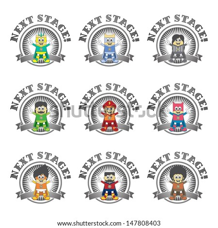 character game set - stock vector