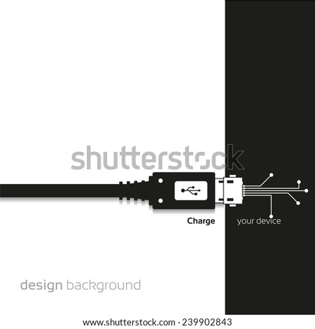 Charge, Concept background design - stock vector