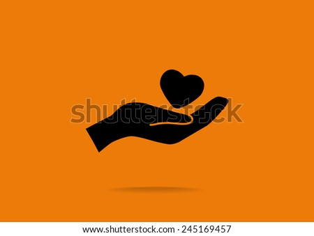 charity web icon. vector design - stock vector