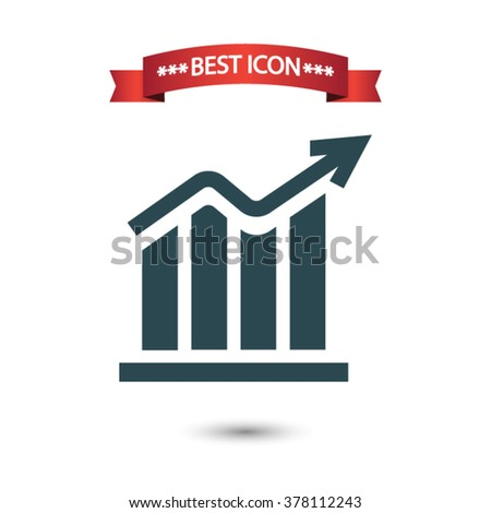 Chart icon vector - stock vector