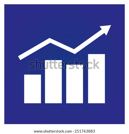 chart icon, vector illustration. Flat design style. - stock vector