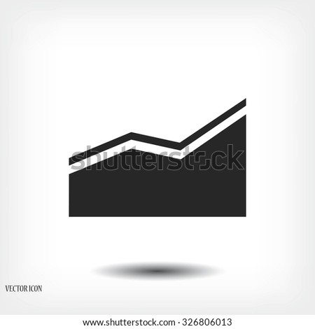 chart vector icon - stock vector