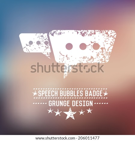 Chat grunge design,vector - stock vector
