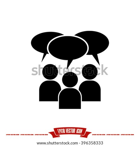Chat icon vector illustration eps10. - stock vector