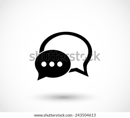 Chat icon with dialog clouds vector - stock vector