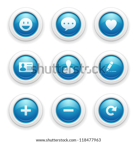 Chat icons - stock vector
