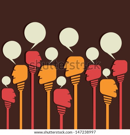 chat people crowd stock vector - stock vector