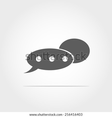 Chat sign icon on white background - stock vector