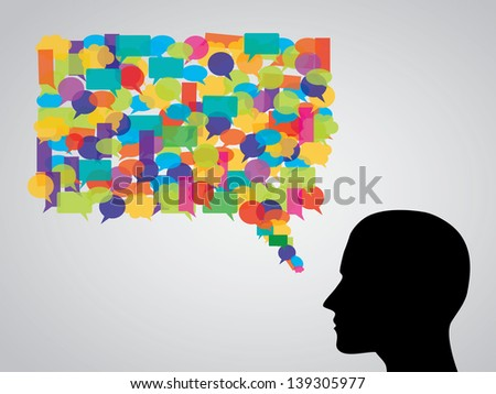 chat, speech bubble - stock vector