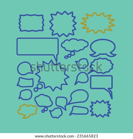 chat, speech, bubble icons set, vector - stock vector