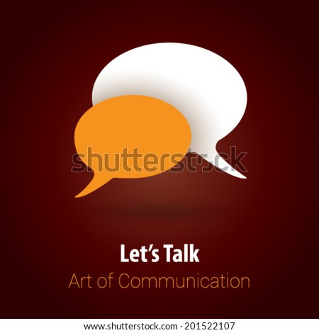 Chat / Talk / Communication Background with Minimalist, Flat & Retro Style - stock vector