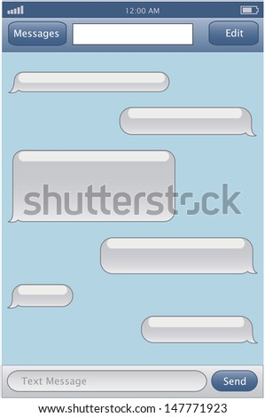 Chat template - stock vector