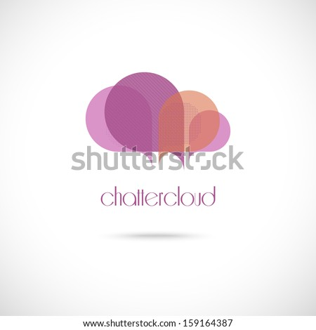 Chatter cloud symbol icon - stock vector