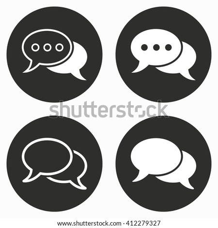 Chatting    vector icon. Illustration isolated for graphic and web design. - stock vector