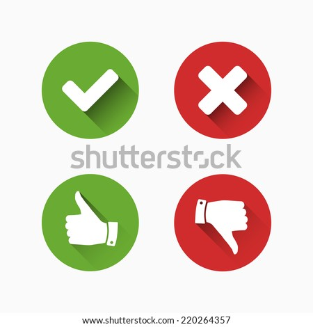 Check and Cancel Marks - stock vector