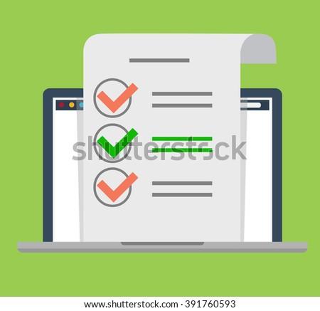 Check list - stock vector