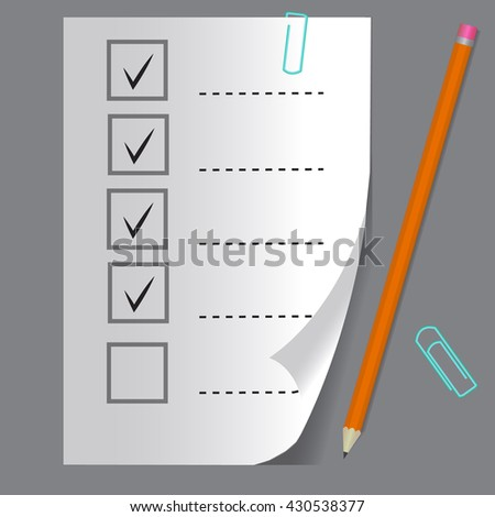 Check list button icon. - stock vector