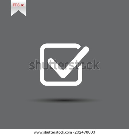 Check list buttons. EPS 10 - stock vector