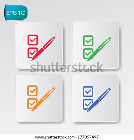 Check list buttons,vector - stock vector