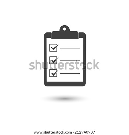 Check list icon conceptual of a survey quality control questionnaire tasks - stock vector