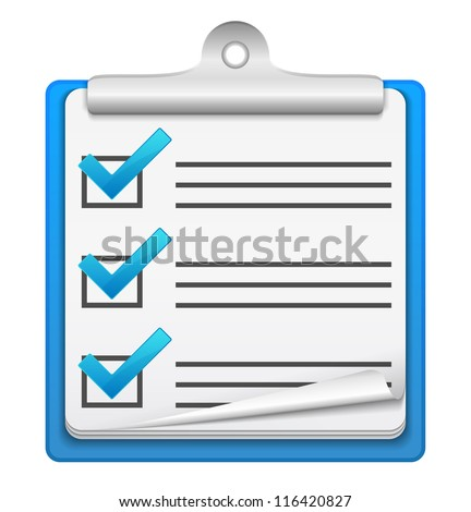 Check list icon, vector eps10 illustration - stock vector
