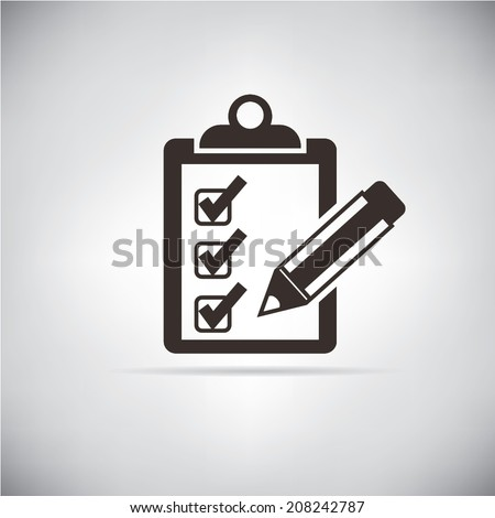 check list icons, checklist box with a checking - stock vector
