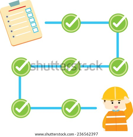 check list safety info graphic illustration vector - stock vector