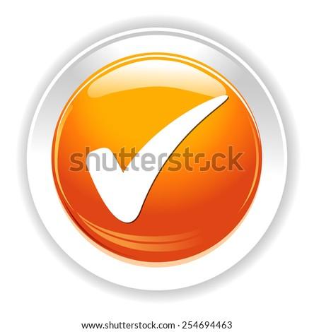 check mark button - stock vector